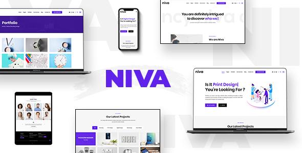 Niva -  Creative Agency & Freelancer WordPress Theme - Portfolio Creative