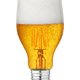 Light bulb with beer isolated - PhotoDune Item for Sale