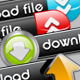 Upload and Download Button Set 2 - GraphicRiver Item for Sale