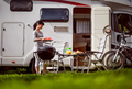 Family vacation travel RV, holiday trip in motorhome, Caravan ca - PhotoDune Item for Sale