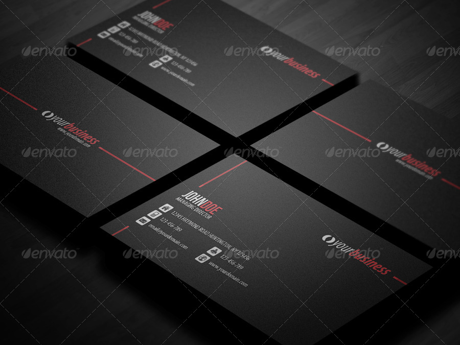 Line Corporate Business Card by glenngoh | GraphicRiver