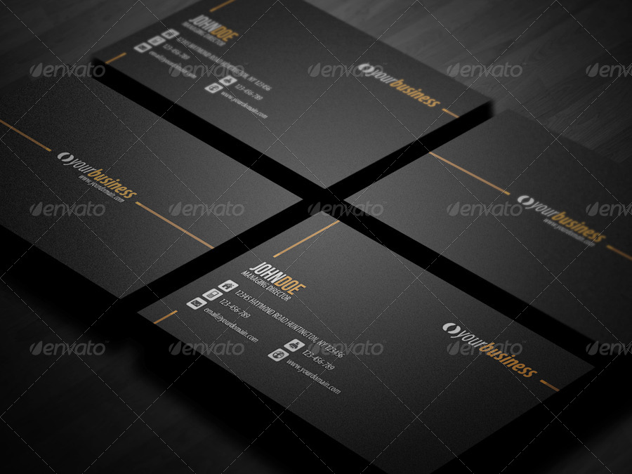 Line corporate business card by glenngoh graphicriver line corporate business card colourmoves