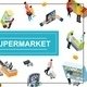 Isometric Supermarket Colorful Concept - GraphicRiver Item for Sale