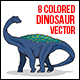 Dinosaur Vector Illustration - GraphicRiver Item for Sale