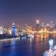 shanghai cityscape at night ,beautiful bend of huangpu river - PhotoDune Item for Sale