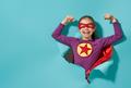 child playing superhero - PhotoDune Item for Sale