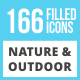 166 Nature & Outdoor Filled Low Poly Icons - GraphicRiver Item for Sale