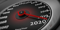 2020 new year. Car speedometer gauge closeup detail. 3d illustration - PhotoDune Item for Sale