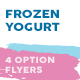 Frozen Yogurt Menu Flyers – 4 Options - GraphicRiver Item for Sale