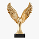 Figurine Gold Eagle Wing - 3DOcean Item for Sale