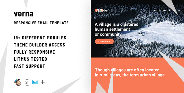 Verna – Responsive Email + StampReady Builder - Email Templates Marketing