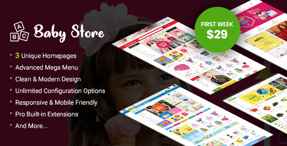 BabyStore - Multipurpose Baby and Kids Store OpenCart 3 Theme - OpenCart eCommerce