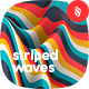 Multi-colored Striped Waves Backgrounds - GraphicRiver Item for Sale