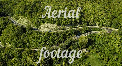 Aerial landscape footage