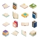 Isometric Open Books Stack Isolated Education - GraphicRiver Item for Sale