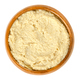 Hummus in wooden bowl over white - PhotoDune Item for Sale