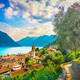 Como Lake, Sala Comacina and greenway trail. Italy, Europe. - PhotoDune Item for Sale