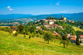 Poppi medieval village panoramic view. Casentino Arezzo, Tuscany - PhotoDune Item for Sale