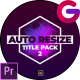 Auto Resize Modern Title Pack 2 - VideoHive Item for Sale