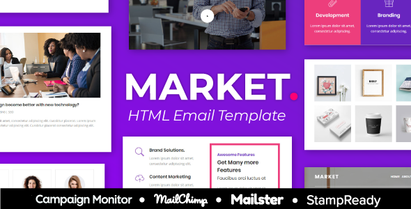 Market Agency - Multipurpose Responsive Email Template for Agency - StampReady + Mailster & Mailchim