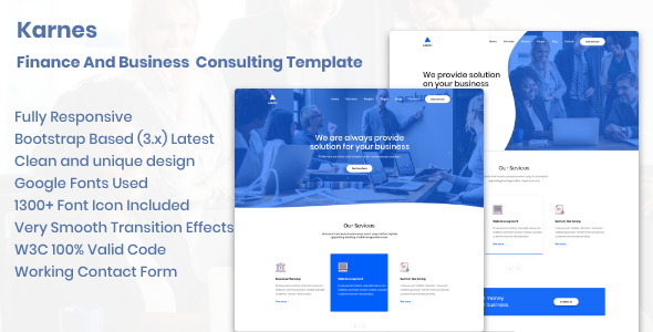 Karnes - Finance And Business Consulting Template