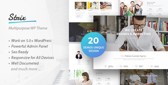 Strix - Multipurpose Business & Agency WordPress Theme