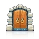Fairy-Tale Door with Golden Handles Entrance - GraphicRiver Item for Sale