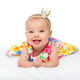 happy beautiful baby girl with crown on head - PhotoDune Item for Sale