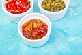 Italian preserved set - marinated capers and pepper, Sundried tomatoes - PhotoDune Item for Sale
