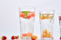 Detox infused flavored water with three color raspberry - PhotoDune Item for Sale