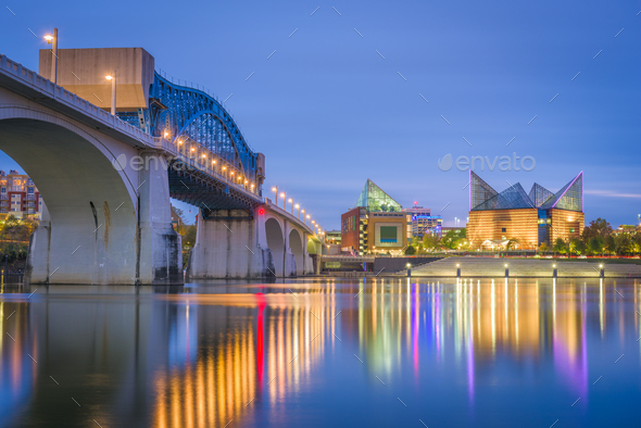Chattanooga, Tennessee, USA downtown skyline - Stock Photo - Images