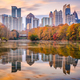 Atlanta, Georgia, USA Piedmont Park skyline in autumn - PhotoDune Item for Sale