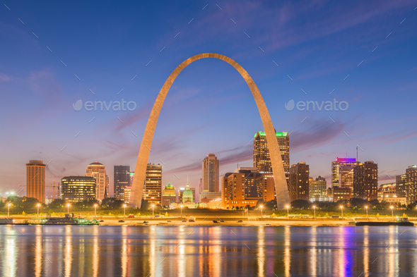 St. Louis, Missouri, USA downtown cityscape - Stock Photo - Images