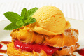 Spritz butter cookies with yellow ice cream - PhotoDune Item for Sale