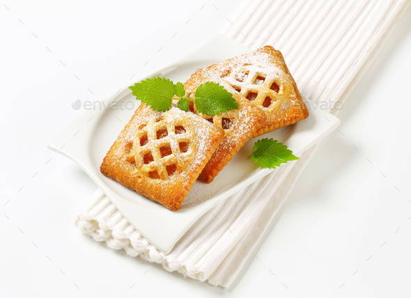 Little apricot pies - Stock Photo - Images