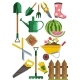Gardening Icons Set - GraphicRiver Item for Sale