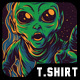 DJ Galaxy T-Shirt Design - GraphicRiver Item for Sale