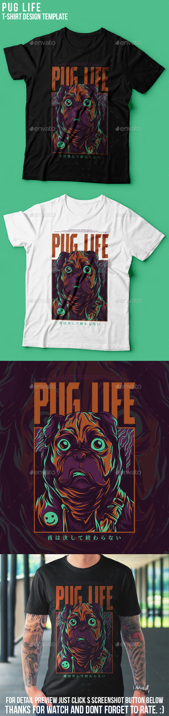Customisable T Shirt Designs From Graphicriver