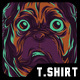 Pug Life T-Shirt Design - GraphicRiver Item for Sale