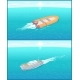 Inflatable Rescue Boat Sailing in Deep Blue Waters - GraphicRiver Item for Sale