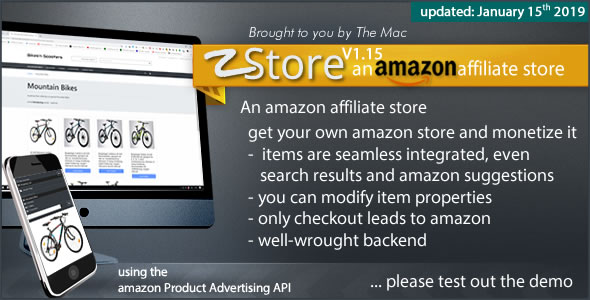 zStore - an amazon affiliate Store - CodeCanyon Item for Sale