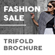 Fashion Shop Sale Trifold Brochure - GraphicRiver Item for Sale