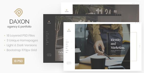 Daxon - Agency / Portfolio PSD Template