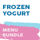 Frozen Yogurt Menu Print Bundle - GraphicRiver Item for Sale