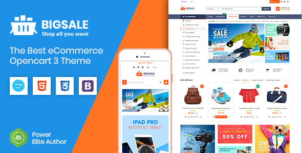BigSale - The Multipurpose Responsive SuperMarket Opencart 3 Theme - OpenCart eCommerce