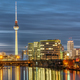 The river Spree, the famous Television Tower and some office buildings  - PhotoDune Item for Sale