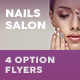 Nails Salon Flyers 2 – 4 Options - GraphicRiver Item for Sale