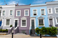 Colorful row houses in Notting Hill - PhotoDune Item for Sale