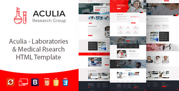 Aculia | Laboratory & Research HTML Template