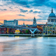 St. Paul's Cathedral and the Millennium Bridge  in London - PhotoDune Item for Sale
